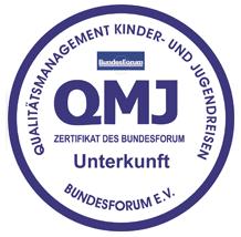 Qualitätsmanagement Kinder- und Jugendreisen Unterkunft