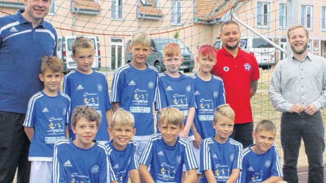 Junge Kicker im Schullandheim – Mannschaft